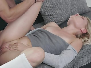 Sweet blonde Scarlett Knight and her handsome kick off b lure antic