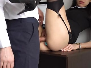 Ass Fucking Internal Ejaculation For Gorgeous Super-Bitch Assistant, Chief Destroyed Her Cock-Squeezing Cooter And Culo!