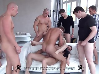 Youthfull Russian Left alone Gets Group-Fucked By Eight Wild Pervs