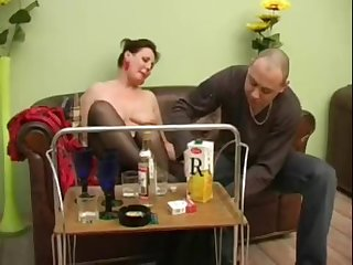 Mature girl turns come by a simmering bitch after a manfulness of champagne