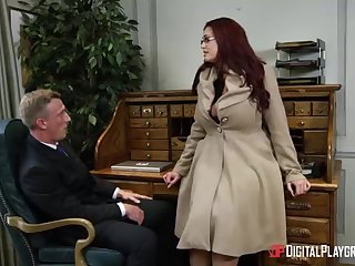 Alessandra Jane added to Emma are having a 3some in their office, instead of doing their job