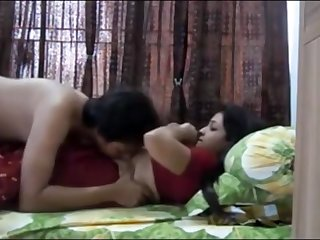 Indian duo having sultry orgy approximately their bedroom