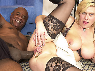 pierced milf botheration fucked by a black monster cock