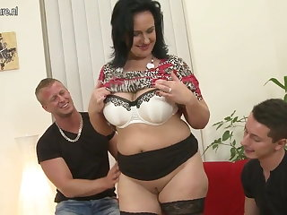 Sexy MOM suck increased by dear one not her SON increased by son