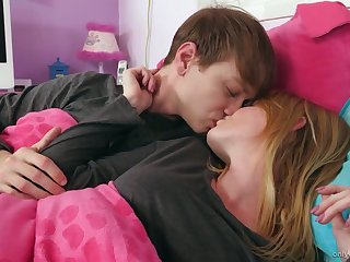 Well-disposed boyfriend Nora Ivy gives a good blowjob early on touching the morning