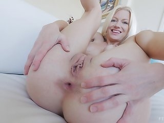 MILF Serene loves to stuff both her holes with toys