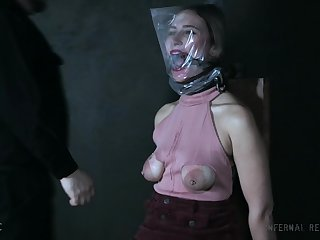 Appealing chick Red-hot August gets tied up and tortured with toys