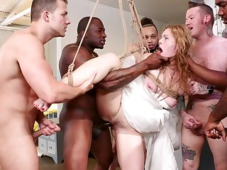 there is nothing better than a gangbang strip for stunning Ella Nova
