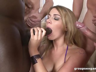 This gangbang is something that will be stay in Ani Black Fox's watch out