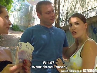 CZECH COUPLES Young Couple Takes Effects be incumbent on Public Foursome