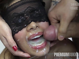 Premium Bukkake - Victoria swallows 81 heavy mouthful cumloads