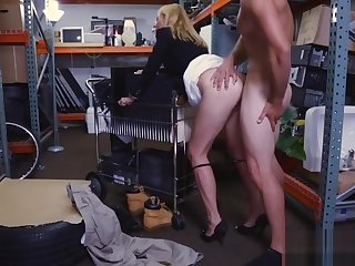 Sexy kermis MILF gets fucked by pawn keeper for money