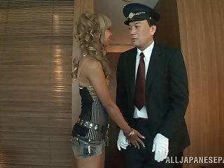 Wavy haired Japanese fairy gets her outlook fucked hardcore