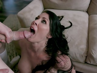 Reagan Foxx gives amazing blowjob and takes a fat horseshit with reference to her cunt