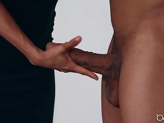 Mature pornstar Alexis Fawx teases the brush black friend and gets his bushwa