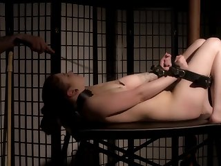She loves surrounding be tied up and tortured off out of one's mind her lover and a fuck machine