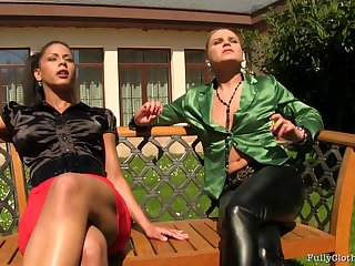 Outdoor lesbian coitus with pizzazz pornstar Isabella Chrystin