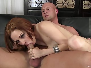 Stirred up redhead sucks be passed on big stick big time before obtaining laid