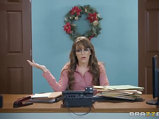 Kimmy Granger is a slutty scrivener who likes to obtain nailed on her working desk