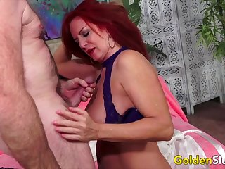 GoldenSlut - Patriarch Strata Act out off Their Cock Sucking Skills Compilation 11