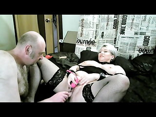 Hot mature bitch AimeeParadise: masturbation and fucking...